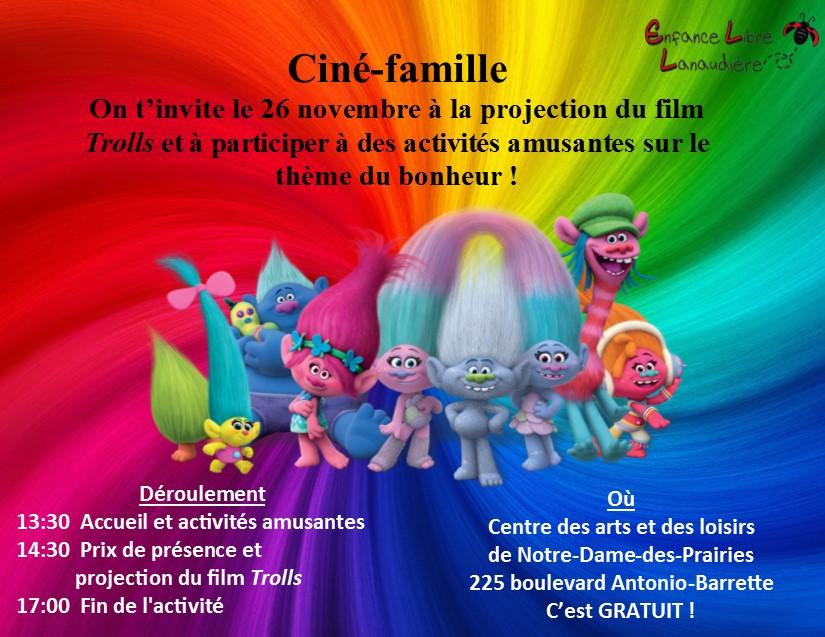 Invitation ciné-famille 2017 Les trolls